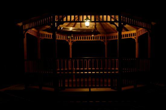 South Garden Bed and Breakfast: Gazebo at night