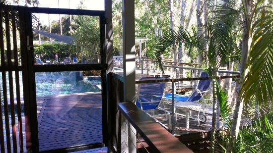 "Sanctuary Palm Cove: Facing pool from ""Retreat"""