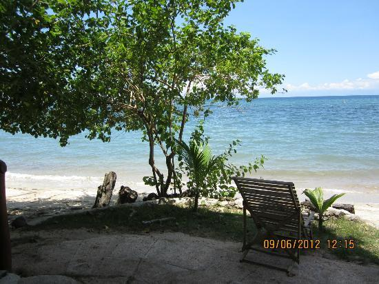 Laiya Coco Grove Resort: The outside seating area of the treehouse