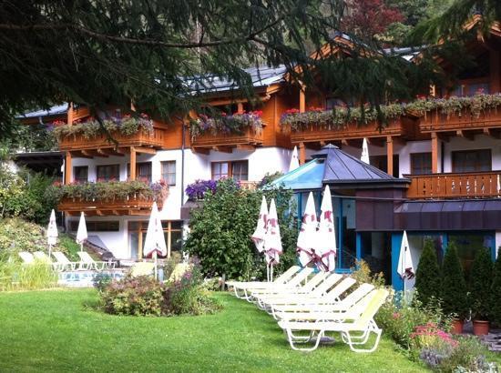Hotel Stadt Wien: Pool area & garden