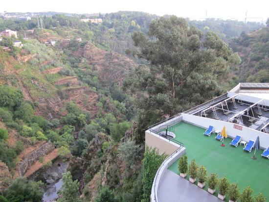 Hotel Miracorgo: panorama dalla terrazina sul rio corgo