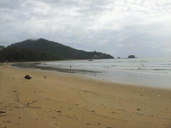 Nai Yang Beach: despite the filth, this is the only nice view from the beach strip.