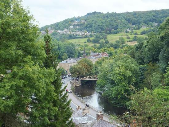 The Temple: View of Matlock Bath from hotel grounds