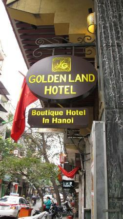 Golden Land Hotel: hotel sign