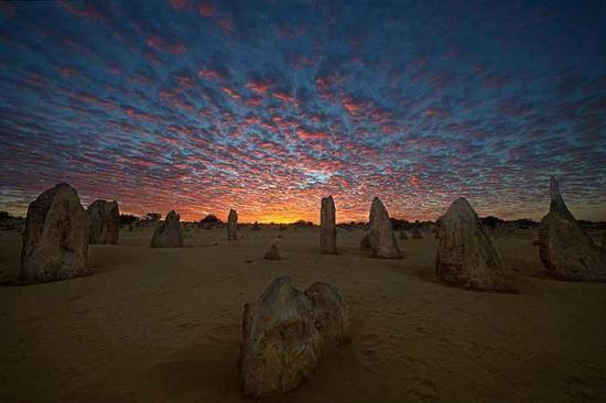 Cervantes, Αυστραλία: Pinnacles at sunrise