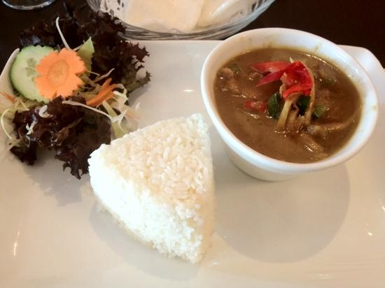Charm Thai: green curry with rice