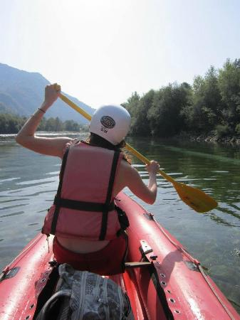 X Point : Canadian canoeing on the Soca river
