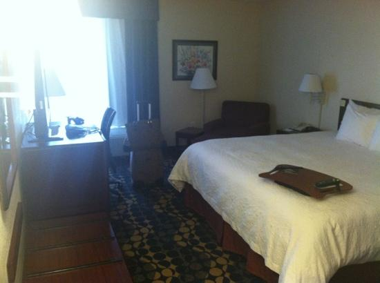 Hampton Inn High Point: photo of my room on 4th floor