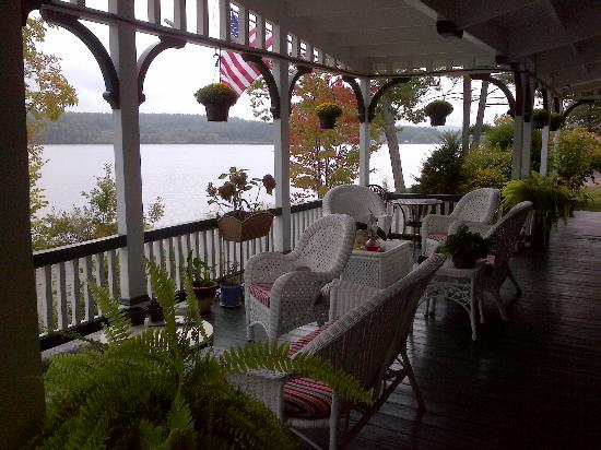 The Lake House at Ferry Point: porch overlooking the  lake