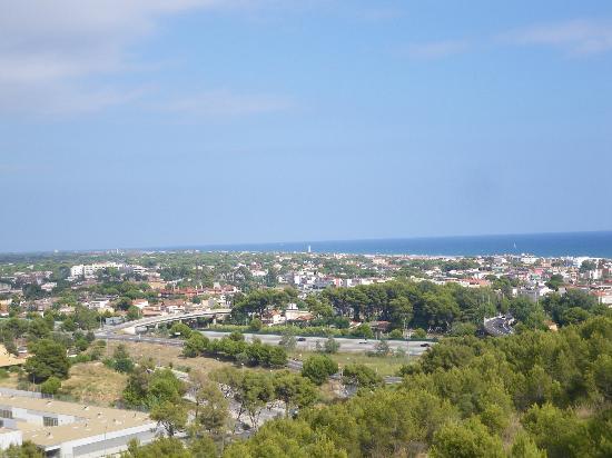 Gran Hotel Rey Don Jaime: Vista desde Castelldefels a Barcelona (habitación)