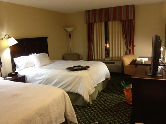 Hampton Inn by Hilton London : queen twin bed