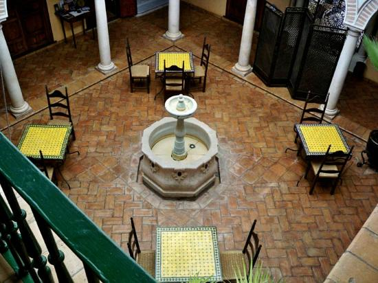 Palacio de los Granados: Birdseye view of Central Dining Area