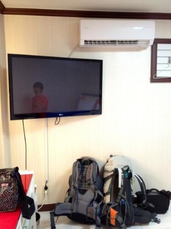 Grand Motel: Huge TV in standard room