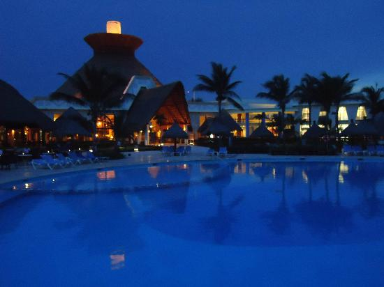 Grand Bahia Principe Tulum: View of lobby from pool.