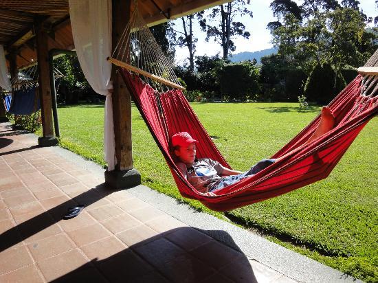 Hotel Posada de Don Rodrigo Panajachel : Hotel Posada de Don Rodrigo, Panajachel, hammock