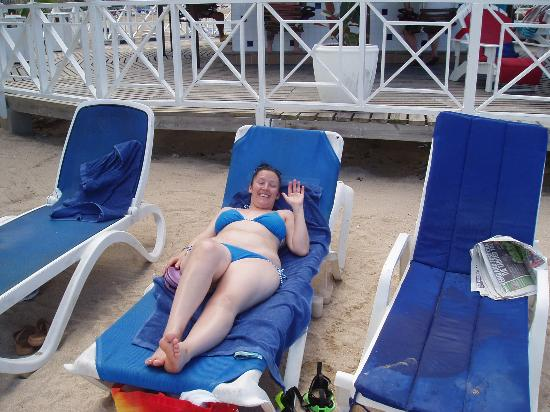 Royal Decameron Club Caribbean: me relaxing on the beach at the royal decameron runaway bay