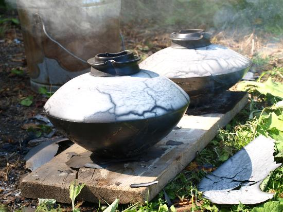 Wilder Farm Inn B&B : Raku from our studio...still hot!