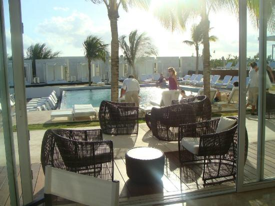 Blue Diamond Riviera Maya by BlueBay: view of pool area from dinning room