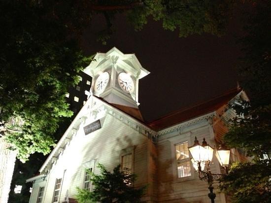 Sapporo, Japon : 夜の時計台