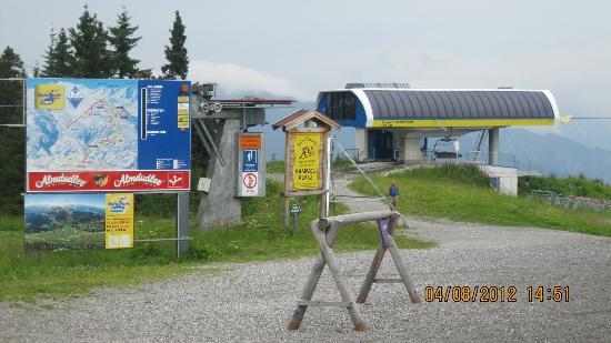 Hochfugen Skigebiet: ski gebied fugen in de zomer