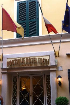 Entrance to Boutique Hotel Trevi