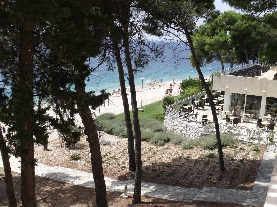 Hotel Zora: vu sur la plage de la chambre