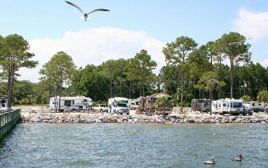 Carrabelle, FL: View from the pier.