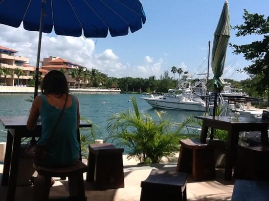 Bamboo Cafe & Smoothies: view of marina