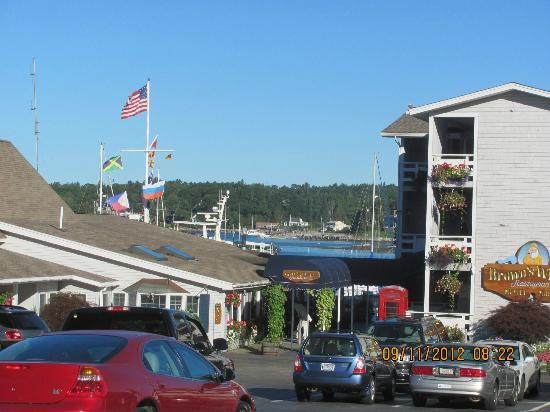 Brown's Wharf Inn: View of the marina that surrounds the Browns Wharf Inn. So great!