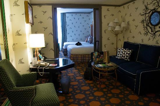Kimpton Hotel Monaco Portland: living room + bedroom