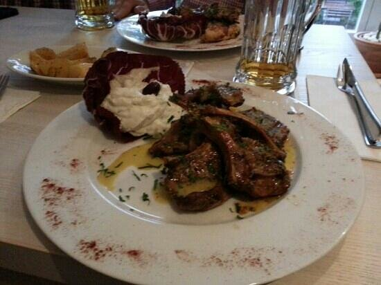 Nostos: The lamb chops are highly recommended.