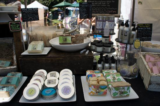 Hilton Eugene: saturday market .. lots of soap product