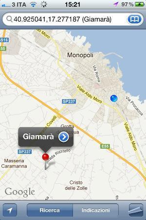 Giamara: Giamarà map