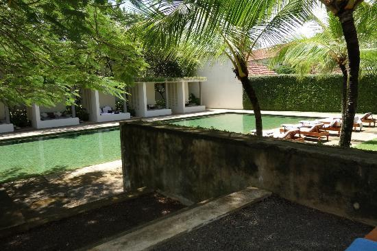 Amangalla: the lovely pool and cabanas