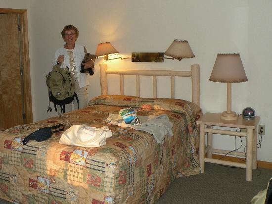 bedroom at Dunraven Lodge
