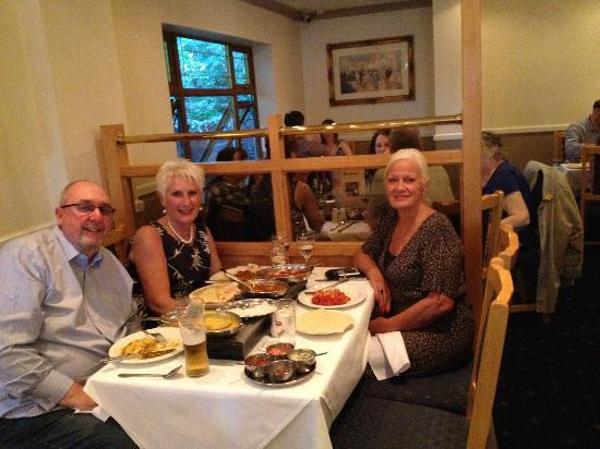 Enjoying an excellent meal at the Shalimar