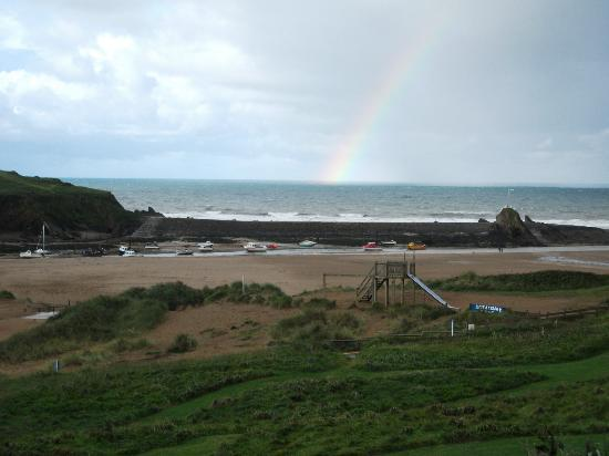 The Edgcumbe: rainbow on the day we left