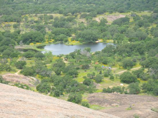 Enchanted Rock State Natural Area: View from the peak towards the north-west