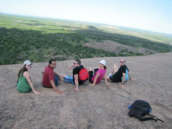 Enchanted Rock State Natural Area: A happy bunch enjoying the view.