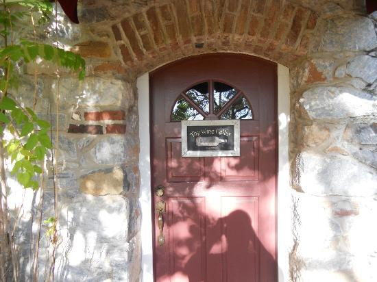 The Harlan House : Wine Cellar private entrance
