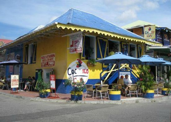 Cocorico Cafe: On the corner of Kennedy Ave & Dame Eugenia Charles Blvd.