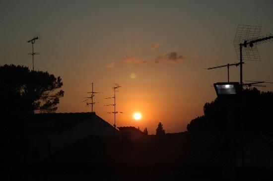 PS Ristorante: Zonsondergang bij avondeten