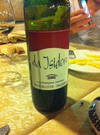 Da Isidoro : il vino della casa
