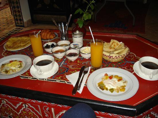 Riad Tamarrakecht: Colazione