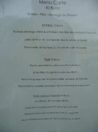 Menu Carte A 40 Euros Picture Of Cote Cuisine Carnac