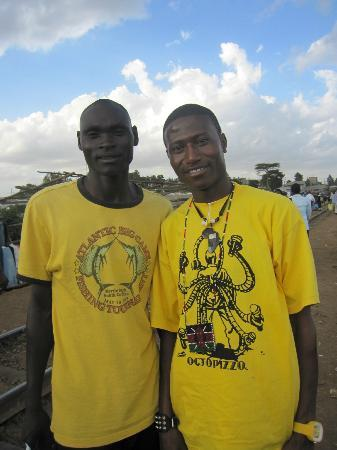 Kibera: Octopizzo and friend who looked after us during the walking tour.l