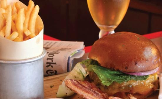 Match 65 Brasserie: Black Angus Burger and Fries