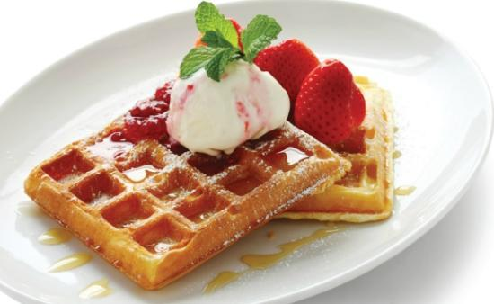 Match 65 Brasserie: Belgium Waffles, Maple Syrup, Mixed Berries and Cream