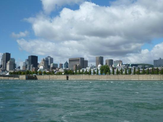 Saute-Moutons Jet Boating: a view of Montreal on the way back
