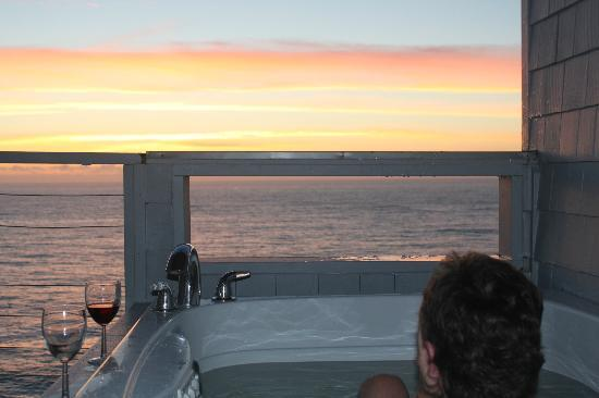 Channel House: view from hot tub